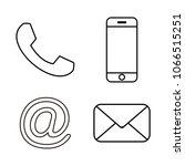 contact line icons.... | Shutterstock .eps vector #1066515251