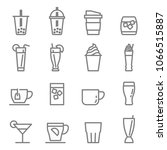 drinks and beverages icon set.... | Shutterstock .eps vector #1066515887