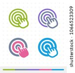 hand click   zap   tap icons. a ... | Shutterstock .eps vector #1066523309