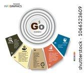 infographic  geometric graph ... | Shutterstock .eps vector #1066523609