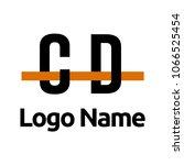 cd logo line | Shutterstock .eps vector #1066525454