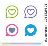 heart notification   zap   tap... | Shutterstock .eps vector #1066529501