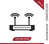 router vector icon | Shutterstock .eps vector #1066532105