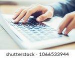 close up of hands of... | Shutterstock . vector #1066533944