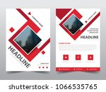 red square brochure annual... | Shutterstock .eps vector #1066535765