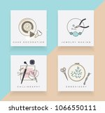 line art icons set depicting... | Shutterstock .eps vector #1066550111