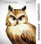 vector design of owl in low... | Shutterstock .eps vector #1066551221