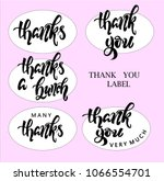 labels for gratitude  the... | Shutterstock .eps vector #1066554701