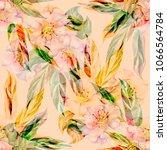 watercolor seamless pattern.... | Shutterstock . vector #1066564784