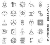 thin line icon set   fan vector ... | Shutterstock .eps vector #1066569737