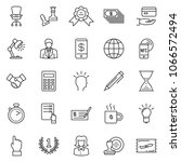 thin line icon set  ... | Shutterstock .eps vector #1066572494