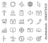 thin line icon set   around the ... | Shutterstock .eps vector #1066572515