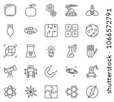 thin line icon set   robot hand ... | Shutterstock .eps vector #1066572791