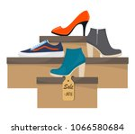 Shoe Boxes With Woman S...