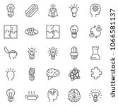 thin line icon set   idea... | Shutterstock .eps vector #1066581137