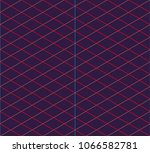 isometric grid. vector seamless ... | Shutterstock .eps vector #1066582781
