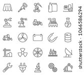 thin line icon set  ... | Shutterstock .eps vector #1066586294