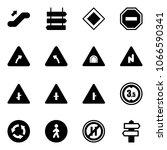 solid vector icon set  ... | Shutterstock .eps vector #1066590341