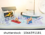 miniature people with traveling ...   Shutterstock . vector #1066591181
