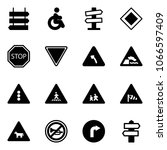 solid vector icon set   sign... | Shutterstock .eps vector #1066597409