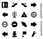 solid vector icon set  ... | Shutterstock .eps vector #1066597445