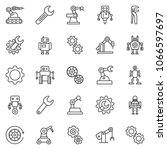 thin line icon set   wrench... | Shutterstock .eps vector #1066597697