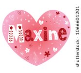 name maxine in pink heart with...   Shutterstock .eps vector #1066601201