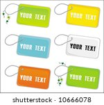 vector set of  trinket  tags. ... | Shutterstock .eps vector #10666078