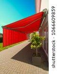 Small photo of Huge awning for privacy and sun protection