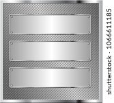 metallic background with three...   Shutterstock .eps vector #1066611185