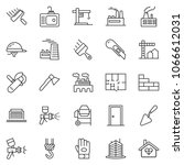 thin line icon set  ... | Shutterstock .eps vector #1066612031