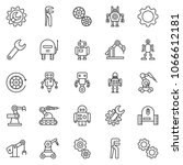 thin line icon set   wrench... | Shutterstock .eps vector #1066612181