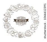 freshly baked everyday phraze.... | Shutterstock .eps vector #1066612391