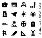 solid vector icon set  ... | Shutterstock .eps vector #1066612694