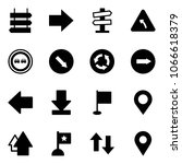 solid vector icon set   sign... | Shutterstock .eps vector #1066618379