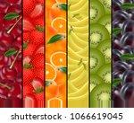 fruity rainbow background. a...   Shutterstock .eps vector #1066619045