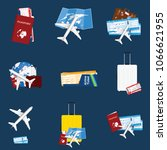 air ticket travel sign... | Shutterstock .eps vector #1066621955