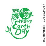 happy earth day isolated vector ... | Shutterstock .eps vector #1066624067