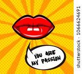 woman lips illustration... | Shutterstock . vector #1066624691