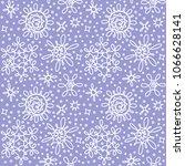 vector seamless violet doodle... | Shutterstock .eps vector #1066628141