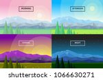 set of vector flat... | Shutterstock .eps vector #1066630271