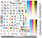 cmyk color management elements. ... | Shutterstock .eps vector #1066632437