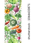 hand drawn raw food... | Shutterstock . vector #1066633871