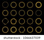 collection of twenty golden... | Shutterstock .eps vector #1066637039