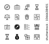 icons productivity with... | Shutterstock .eps vector #1066638401