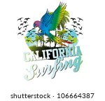 surf beach | Shutterstock .eps vector #106664387