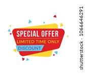 special sale banner  discount...   Shutterstock .eps vector #1066646291