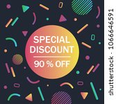 special sale banner  discount... | Shutterstock .eps vector #1066646591
