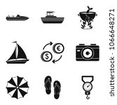 sea recreation icons set.... | Shutterstock .eps vector #1066648271
