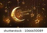 ramadan kareem. eid mubarak.... | Shutterstock .eps vector #1066650089